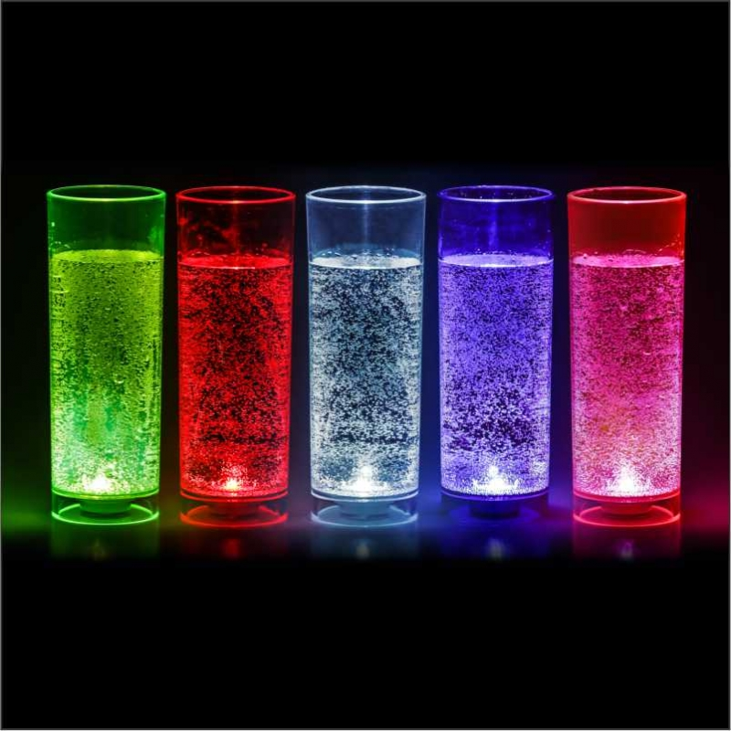 Copo Long Drink Com Led 320ml Transparente Multicolor